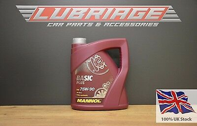 Mannol Basic Plus 75W90 GL 4+ FULLY SYNTHETIC GEAR OIL 4 L MIL-L 2105, VW 501.50