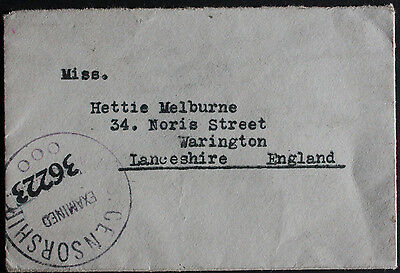 Nicaragua 1940 8c President's Visit on Censored Cover to Warrington, Lancashire