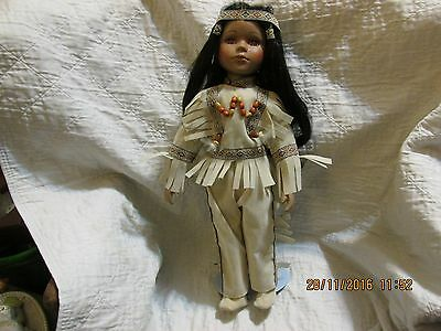 unique porcelain indian doll 1 of 5000 name wildeagle