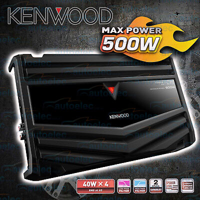 Kenwood Kac-Ps647 500W 4/3/2 Channel Car Audio Stereo Amplifier Sub Amp New