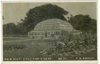 Wirral - Birkenhead Park - Palm House Upper Park - Real Photo 1922.