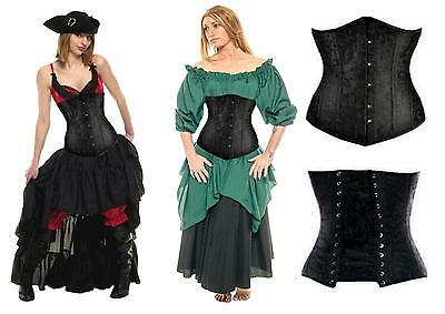 Renaissance Costume Dress-Up Medieval Peasant Pirate Wench Brocade Waist Corset