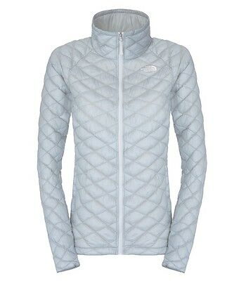 -- The North Face Thermoball Full Zip Piumino Donna, High Rise Grey (A07)