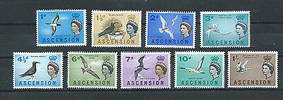 Ascension  ,queen Elizabeth Ii , 1963 , Set Of 9 Stamps , Perf , Mnh