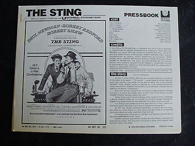 THE STING press book PAUL NEWMAN ROBERT REDFORD 1973