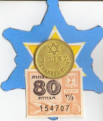 "1890-1914  *RARE  *Jewish Star of ""David"" on  *german BEER  TOKEN"