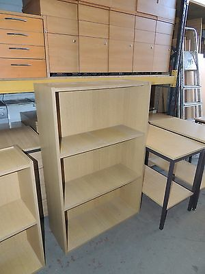 Office Bookcase in Oak with Fixed Shelves
