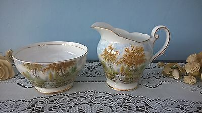 "Royal Standard ""the Old Mill Stream"" China Milk Jug And Sugar Bowl"