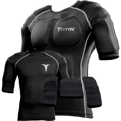 TITIN Full Force Weighted Compression Shirt/Vest System - Black - Size Medium