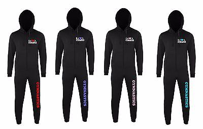 I Love Gymnastics Onsie NEW FOR 2017 Choose your colour HEART + Size EMBROIDERED
