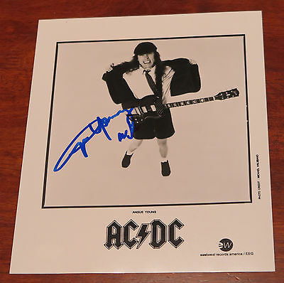 AC/DC -  Angus Young signed 8x10 photo with JSA Cert! Zakkcar loves Angus!