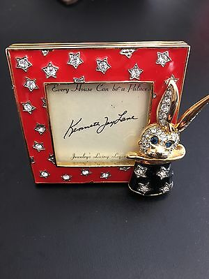 """Kenneth Jay Lane Magical Rabbit In A Hat 2""""x2"""" Collectible Picture Frame."""