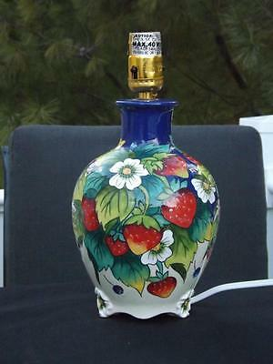 J McCall Blue Sky 2004 Icing On The Cake Strawberry Table Lamp Multiple Qty's