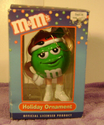 M & M's   Green M&M Holiday Ornament New