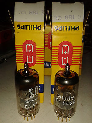E188CC NOS Philips matched pair 100% Valvole Philips NOS, appaiate 100%