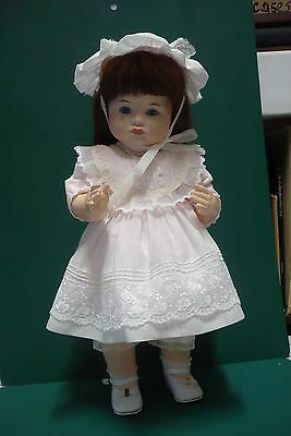 "Porcelain doll with composition body 18"" from 1987"