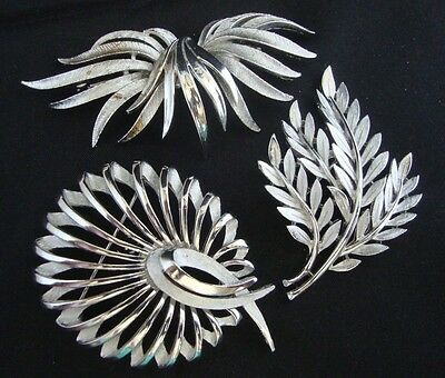 Lot of 3 Vintage Signed Brooches Pins 1 Coro 2 Trifari