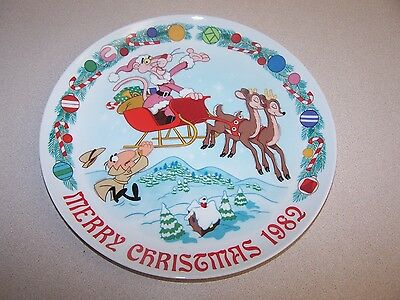 "Pink Panther Collector Plate 1982 ""Sleigh Ride""  Royal Orleans"