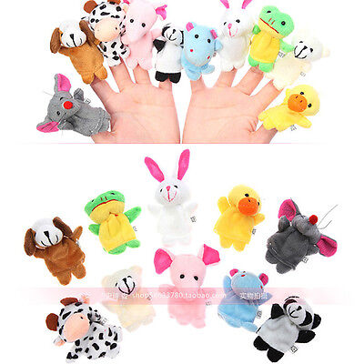 Baby Kids Plush Cloth Play Game Learn Story Family Finger Puppets Toys Set