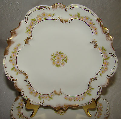 """Set of 4 Alfred Lanternier Hand Painted French Limoges Hand Painted 6 1/4"""""""