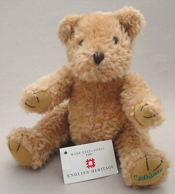 English Heritage UK Teddy Bear Cuthbert 10in Custodian Curly Plush Jointed Tags