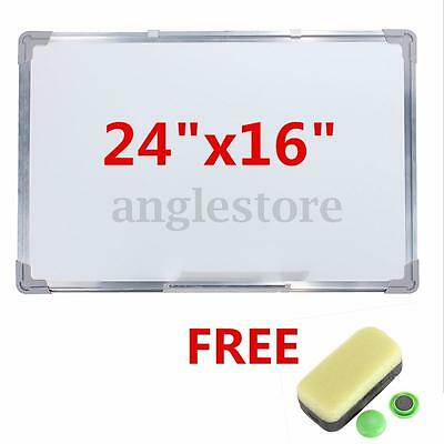 "Magnetic 24""x16"" Single Side Writing Whiteboard Dry Erase Board Office w/Eraser"