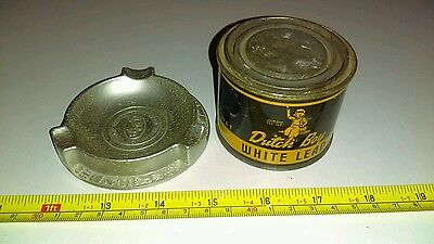 Vintage National Lead Dutch Boy Can & Ashtray Advertising Lot Rare