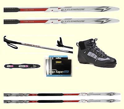 Maximum Glide At Best Price! Madshus Metal Edge Xc Cross Country Skis Package