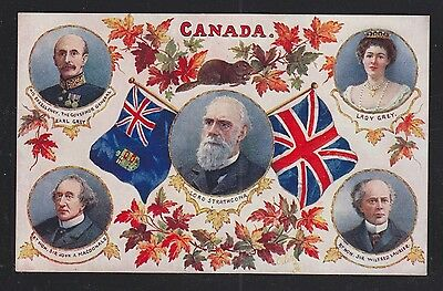 Canada 1910s PRIME MINISTERS & GOVERNORS GENERAL Tuck's PATRIOTIC Postcard