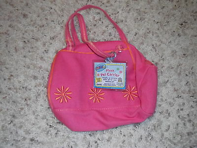 NEW Webkinz Plush Pet Carrier Pink Flower New with sealed code