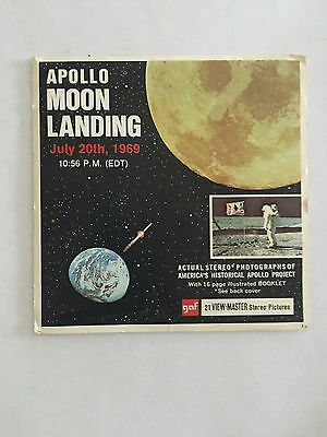 GAF Apollo Project Moon Landing July 20 1969~Historical Stereo Photographs