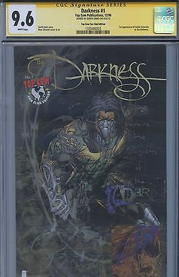 SS CGC 9.6 NM+ Darkness 1 Top Cow Fan Club Variant Sgnd by Ennis (Witchblade)