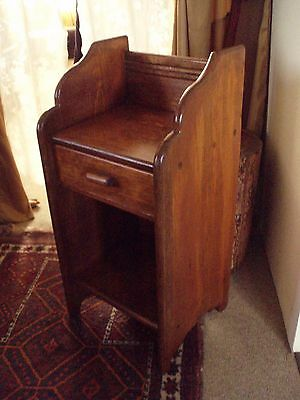 WOOD  NIGHT STAND, SIDE TABLE, BEDSTAND or SEWING STAND~18 Dowel Constructed