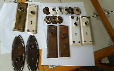 antique doorknob plates and rosettes for mortis and rim locks