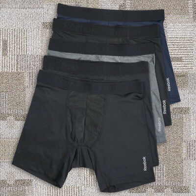 Clearance-5 Pack Reebok Mens Frontguy Sports Underwear Boxer Briefs Trunks S-2XL