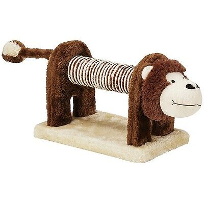 ZOOFARI - Cute Monkey Shaped Cat / Kitten Scratching Post Play Toy with Rattle