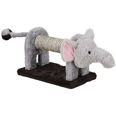 ZOOFARI - Cute Elephant Shaped Cat / Kitten Scratching Post Play Toy with Rattle