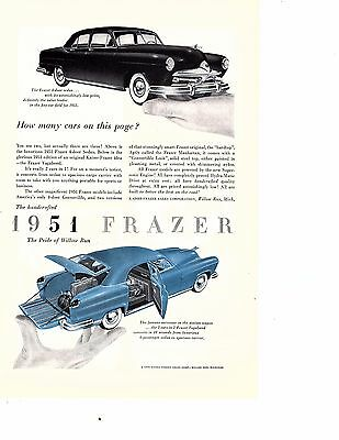 1950  Ad for 1951 Kaiser FRAZER VAGABOND & SEDAN