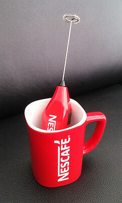 NESCAFE COFFEE Red Mug Cup Foam Maker Limited super rare collection promotion