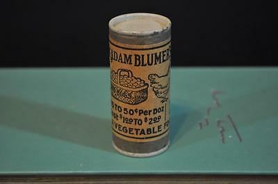Vintage Madame Blumer's Poultry Advertising Container Chicken Feed