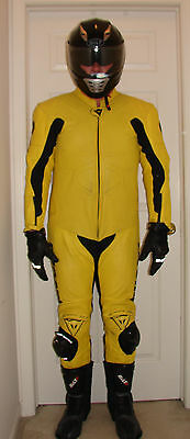 Dainese Ducati Motorcycle Racing Leather Yellow One Piece size EU60 US50