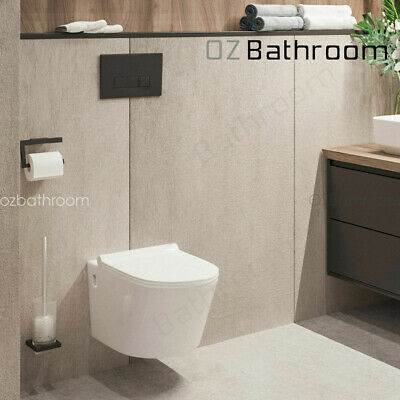 Wall Hung toilet suite Steel framed soft close seat inwall concealed cistern