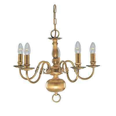 Searchlight 1019-5AB Flemish Antique Brass 5 Light Fitting, Clearance Stock
