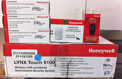 Brand new Honeywell Lynx Touch L5100 wireless alarm system for Home,  (KIT)