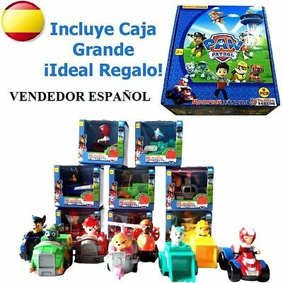 PAW PATROL PACK SET LOTE  8 COCHES PATRULLA CANINA ACCION VEHICULOS RESCATE pp1