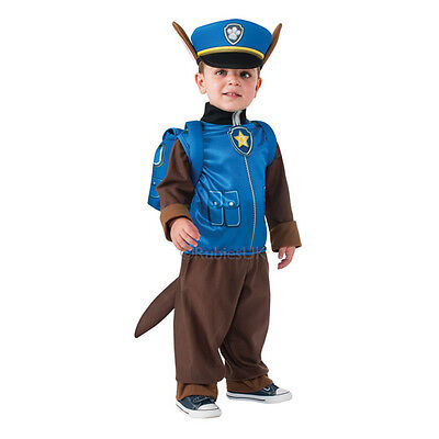 New Paw Patrol Chase Small Costume with Headpiece and Pup Pack (3 4 years)
