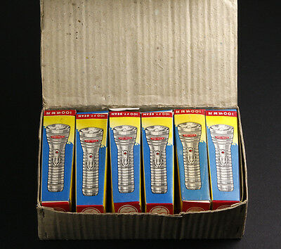 Box with 12 Sea-Gull Vintage Flashlights New Old Stock