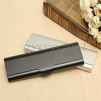 UK Slim Matte Hard Metal Spectacles Reading Glasses Eyeglasses Case Protection