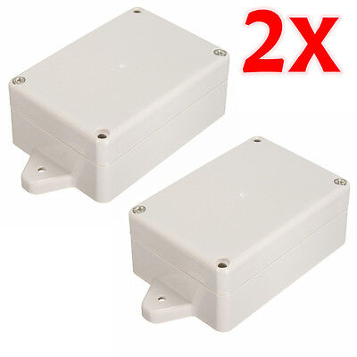 Pair Plastic Waterproof Electronic Project Cover Case Box Enclosure 83x58x35mm