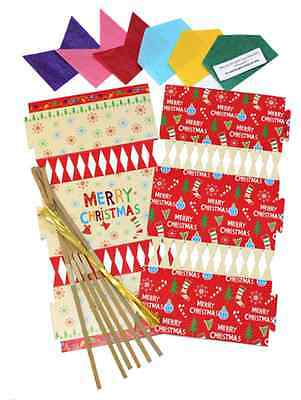 Make your own Christmas Crackers Pack of 6 Activity Craft